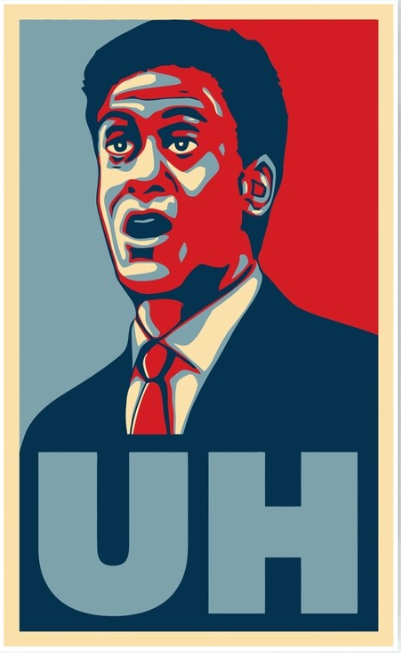 Ed Miliband using the classic phrase to dramatic effect.