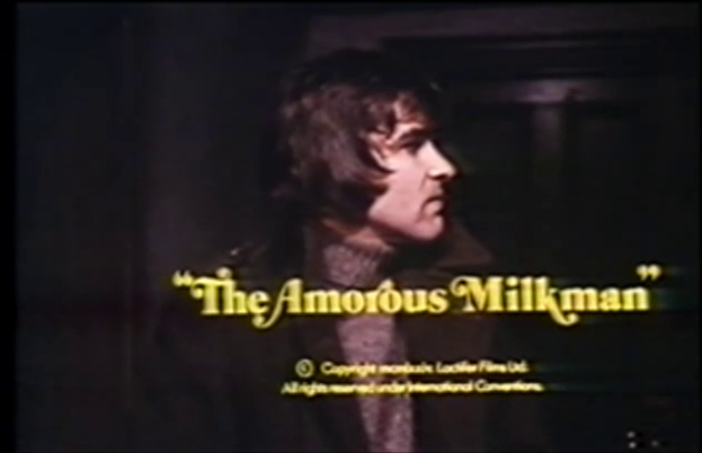 """The Amorous Milkman"" in questionable yellow typeface."